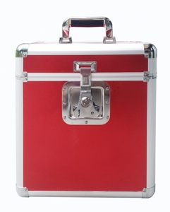 SCHALLPLATTEN KOFFER / FLIGHT CASE (ROT / MAX. 24 LPS) - LP FLIGHT CASE (RED / MAX. 24 LPS)